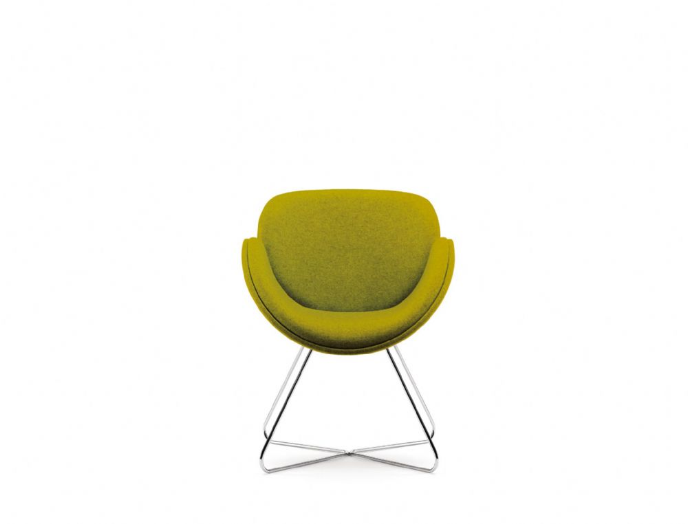 Pledge Spirit Fully Upholstered Breakout Chair with Wire Base